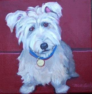 Alice Murdoch: 'Dog Portrait', 2005 Oil Painting, Portrait. commission sample of a dog portrait...
