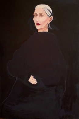 Alice Murdoch: 'widow', 2020 Oil Painting, Figurative. from Alice s last series of work.  A departure from her colorful palette. ...