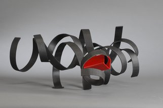 Steel Sculpture by Ali Gallo titled: blackwidow, 2014