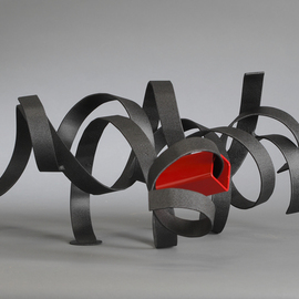 Ali Gallo: 'blackwidow', 2014 Steel Sculpture, Abstract. Artist Description:   welded  steel sculpture powder coated  ...
