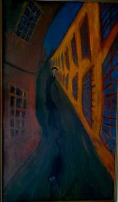 Alina Suleimen Artwork stroll of joyce, 1995 Oil Painting, Expressionism