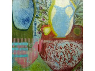 Alison Saldana Artwork Blue Jug , 2006 Mixed Media, Still Life