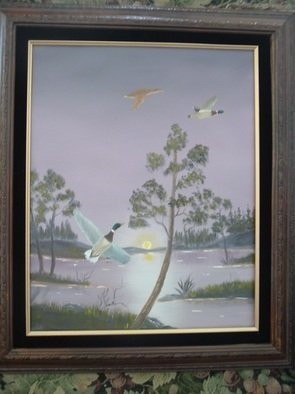 Birds Oil Painting by Al Johannessen Title: Hey waite for me, created in 2010