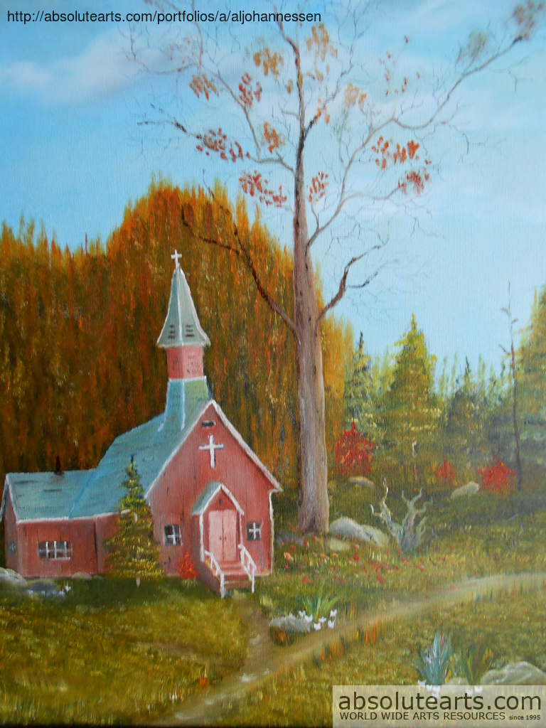 Al Johannessen Artwork Little Country Church