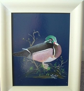 Birds Oil Painting by Al Johannessen Title: Wood Duck, created in 2010