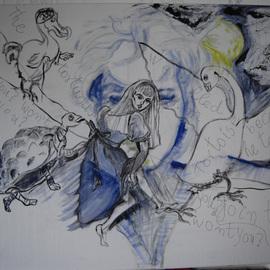 Alice with graffiti