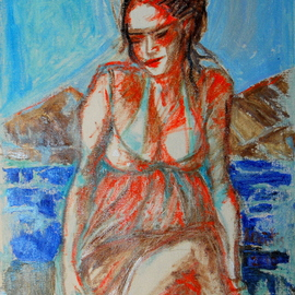 Alkistis Wechsler: 'Ariadne auf Naxos', 2010 Oil Painting, Scenic. Artist Description:    ink and oil on linen      ...