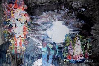 Artist: Alkistis Wechsler - Title: demon girl and the full moon - Medium: Oil Painting - Year: 2008