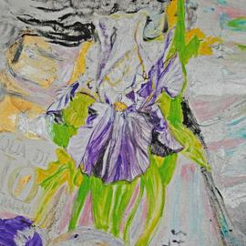 Alkistis Wechsler Artwork detail iris, 2013 Oil Painting, Dance