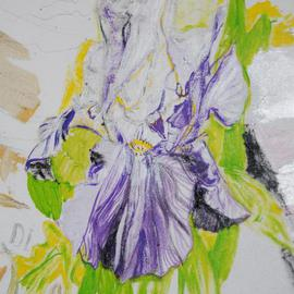 Alkistis Wechsler Artwork iris detail of a 140 x 200 cm p at work, 2013 Oil Painting, Ethereal
