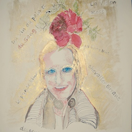 Alkistis Wechsler: 'la vie en rose', 2011 Ink Painting, Portrait. Artist Description:    My summer inspiration to a new series of ink and pigment watercoulors portraits inspired by various ages of my Friend HUGO   ...