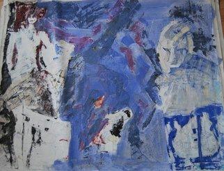 Artist: Alkistis Wechsler - Title: le voile bleu - Medium: Oil Painting - Year: 2014