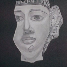 Mamoon Allaf: 'Ancient Egyptian ', 2010 Pencil Drawing, Culture.
