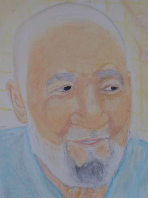 Mamoon Allaf  'My Dad', created in 2011, Original Pastel.