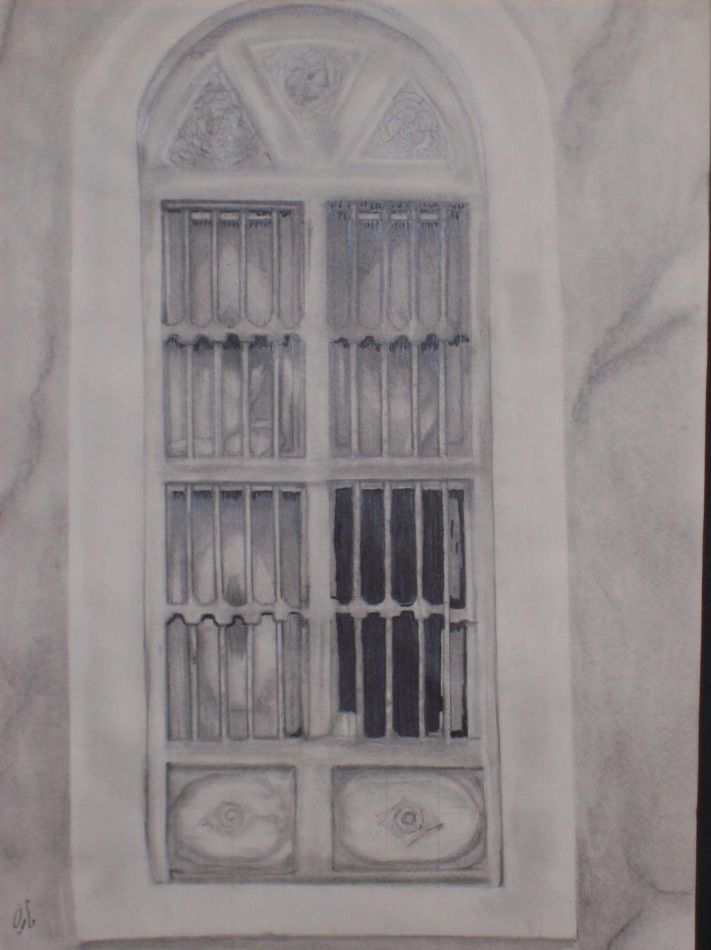 Door pencil drawing - Mamoon Allaf Artwork The Window 2010 Pencil Drawing Culture