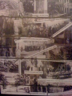 Collage by Allan Cohen titled: The Holocaust, 2011