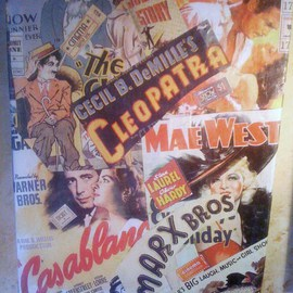 Allan Cohen Artwork Vintage Movies, 2012 Collage, Movies