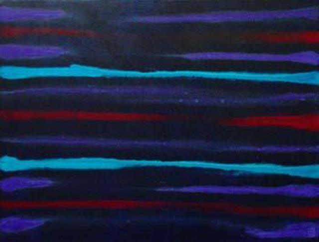 Harry Bayley  'Neon Blue Purple Magenta Bleed', created in 2003, Original Painting Acrylic.