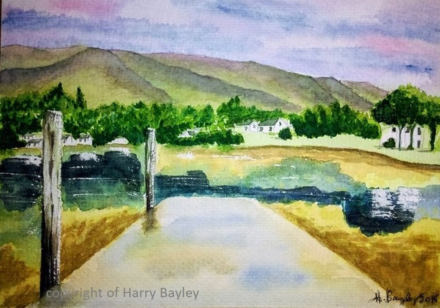 Harry Bayley  'Portree 2', created in 2018, Original Painting Acrylic.