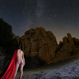 Alp Basol: 'nymph under the stars', 2018 Color Photograph, Nudes. Artist Description: Print on high- quality photography paper...