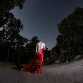 Alp Basol: 'nymph with stars', 2018 Color Photograph, Nudes. Artist Description: print on high- quality photography paper...