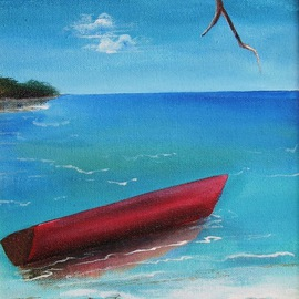 Alton Hinds: 'At Rest', 2008 Acrylic Painting, Sea Life. Artist Description:  Exploring techniques and effects ...