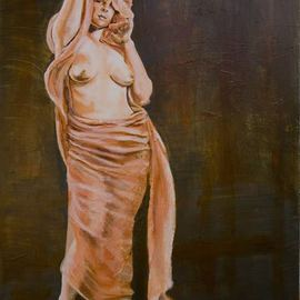 Amanda Scott: 'Self Portrait', 2006 Acrylic Painting, nudes. Artist Description: Self Portrait 2006...