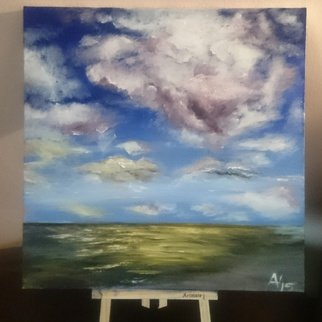 Amantina Prushi: 'sky', 2015 Acrylic Painting, Sky. Artist Description:  Look at the sky. We are not alone. The whole universe is friendly to us and conspires only to give the best to those who dream and work. ...