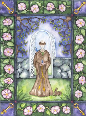 Artist: Eleanor Hartwell - Title: HeavensGate - Medium: Watercolor - Year: 2002