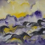 Purple Horses By Eleanor Hartwell