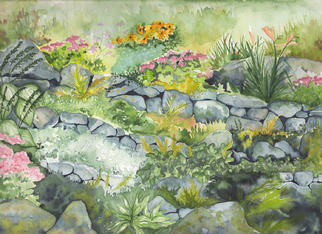 Eleanor Hartwell Artwork Sunapee Garden, 2002 Watercolor, Botanical