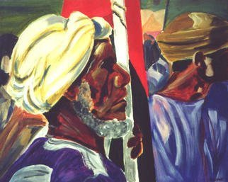 A M Bowe: 'National Day Muscat', 2001 Acrylic Painting, Culture.