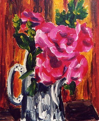 Artist: Anne-marie Bowe - Title: Roses - Medium: Acrylic Painting - Year: 2002