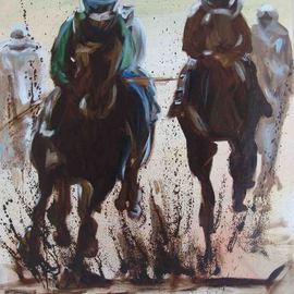 Anne-marie Bowe Artwork The Gallop, 2007 Oil Painting, Equine