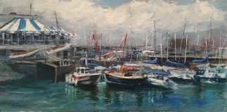 A M Bowe: 'howth yacht club dublin ire', 2019 Oil Painting, Marine. Artist Description: Howth Marina, Dublin, Howth Yacht Club, Sailing Boats, Oil on Canvas Board...