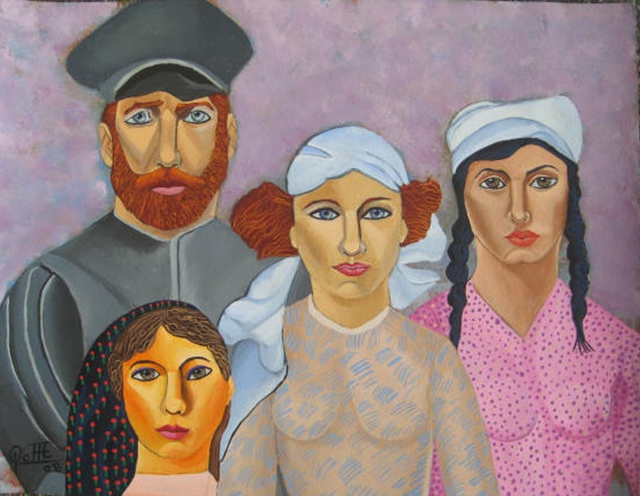 Sergio Roffe  'A RUSSIAN FAMILY', created in 2008, Original Mixed Media.