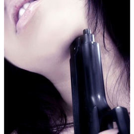 Diana Lorena Pirez: 'Your Love is a Gun', 2004 Color Photograph, Love. Artist Description:  Your Love is a gun,your mind is a bulletsearching, quicklyinside my brain. .I love you.  ...