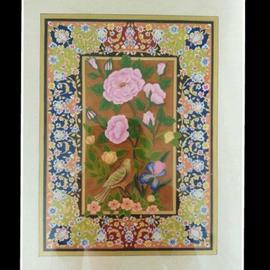 Amir Rahnama: 'my garden', 2017 Acrylic Painting, Floral. Artist Description: Acrylic miniature goache flower ...
