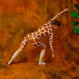 Amit Bar: 'Hungry Giraffe', 2008 Color Photograph, nudes. Artist Description:  Body- painted model in the studio   ...