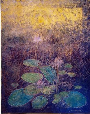 Artist: Amna Walayat - Title: Lotus series - Medium: Oil Painting - Year: 2003
