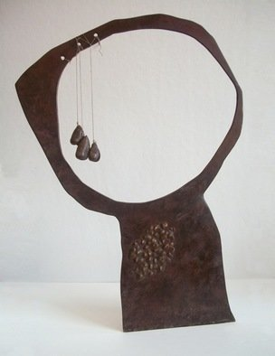 Amber Marley Padilla: 'Reflection with Three Tears', 2010 Bronze Sculpture, Abstract.