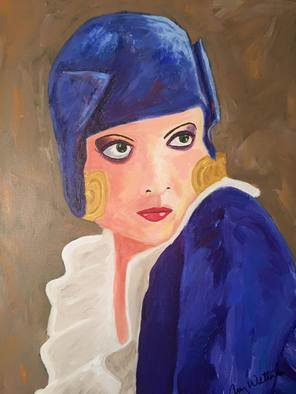 Amy Wetterlin Artwork Giving The Look, 2016 Acrylic Painting, Portrait