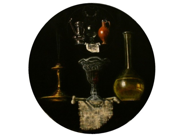 Arnold Ananicz Ananiczius  'Still Life With A Torrentius Still Life', created in 2001, Original Painting Oil.