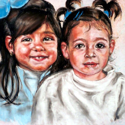, Andalucian Children, Portrait, Sold