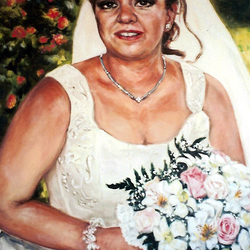, Spanish Bride, Portrait, Sold