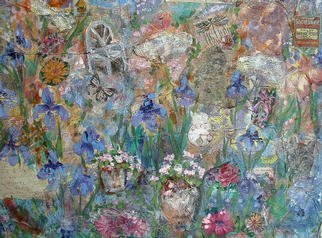 Collage by Andree Lisette Herz titled: Dream Garden, created in 2002