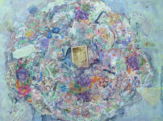 Andree Lisette Herz  'Memory Wreath', created in 2002, Original Assemblage.