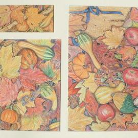Andree Lisette Herz Artwork fall bounty, 2003 Pencil Drawing, Nature