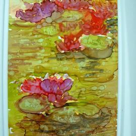 Andree Lisette Herz Artwork green pond, 2013 Ink Painting, Floral