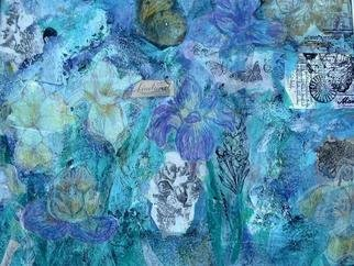 Collage by Andree Lisette Herz titled: iris, created in 2003